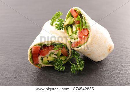 fajita, sandwich wrap