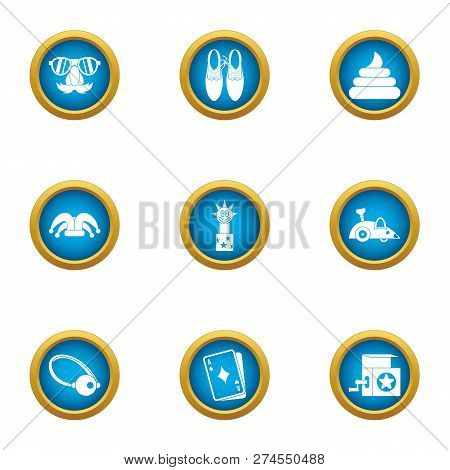 Merriment Icons Set. Flat Set Of 9 Merriment Icons For Web Isolated On White Background