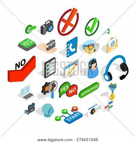 Advice Icons Set. Isometric Set Of 25 Advice Icons For Web Isolated On White Background