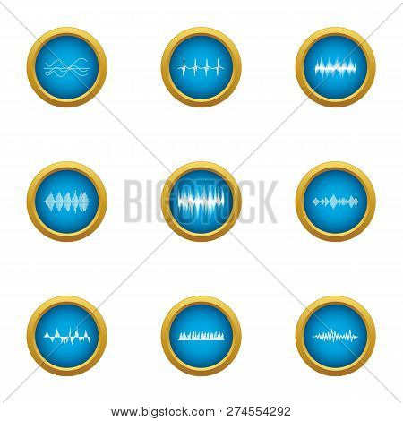 Pulse Icons Set. Flat Set Of 9 Pulse Icons For Web Isolated On White Background