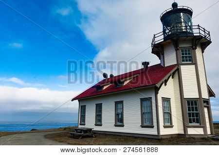 Point Cabrillo Light House Near Fort Bragg California, On The Pacific Ocean