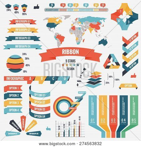 Collection Of Infograph People Elements For Business. Vector Illustration. Infographic Pictograms. I