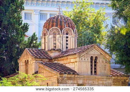 The Little Metropolis,the Church of St. Eleutherios, in Athens poster