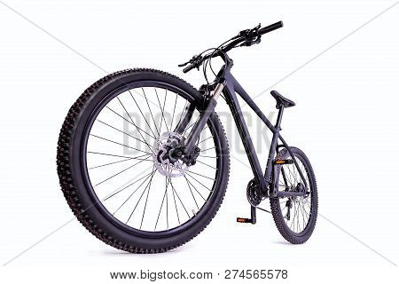 Cut Out Mountain Bike Against A White Background