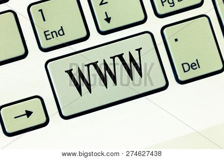 Text Sign Showing Www. Conceptual Photo Network Of Online Content Formatted In Html And Accessed Via