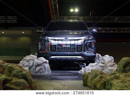 Kuala Lumpur, Malaysia - December 1,2018 : The New Mitsubishi Triton, Powered By A 2.4 Litre Mivec T