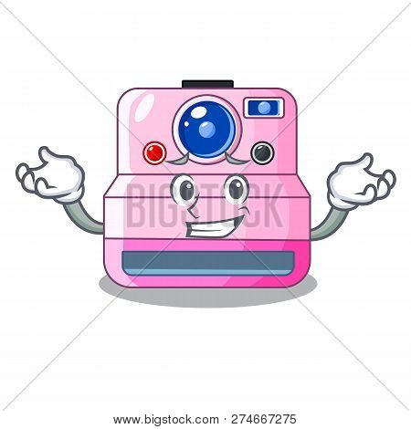 Grinning Instant Camera With Revoke Cartoon Picture