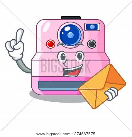 With Envelope Instant Camera With Revoke Cartoon Picture