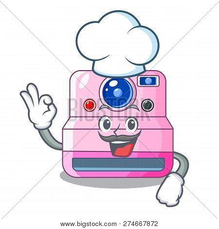 Chef Instant Camera With Revoke Cartoon Picture