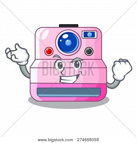 Successful Instant Camera With Revoke Cartoon Picture