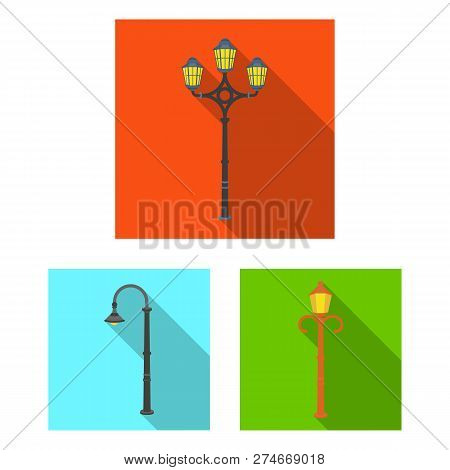 Vector Illustration Of Moon And Holiday Sign. Set Of Moon And Ramadan Stock Symbol For Web.