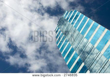 Blue Glass Skyscraper