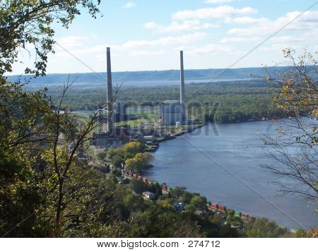 Overlook On The Mississippi River