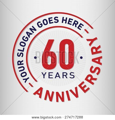 60 Years Anniversary Logo. 60th Vector And Illustration.