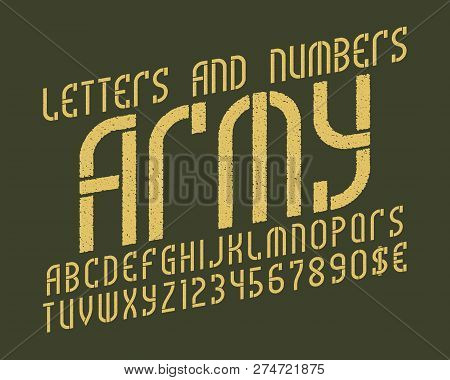 Army Alphabet Numbers Vector & Photo (Free Trial) | Bigstock