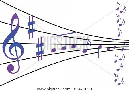 abstract musical notes theme
