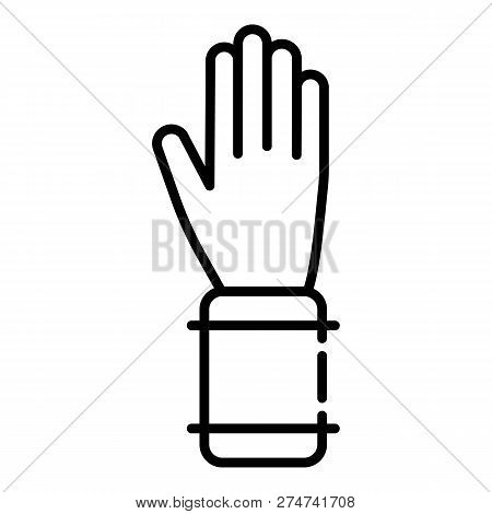 Bee Keeper Glove Icon. Outline Bee Keeper Glove Vector Icon For Web Design Isolated On White Backgro