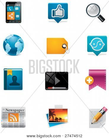 Vector communication and social media icon set. Part 2
