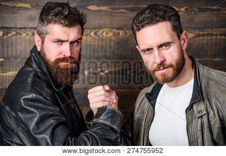 Strong Handshake. Friendship Of Brutal Guys. Mafia Dealer. Real Friendship Of Mature Friends. Male F