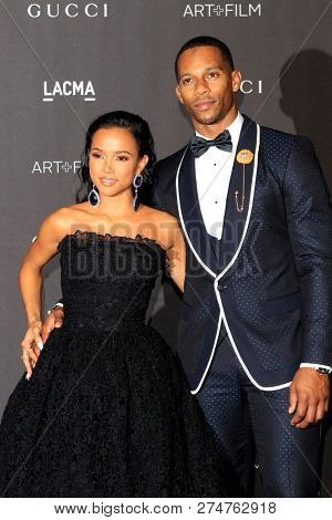 LOS ANGELES - NOV 3:  Karrueche Tran, Victor Cruz at the 2018 LACMA: Art and Film Gala at the Los Angeles County Musem of Art on November 3, 2018 in Los Angeles, CA