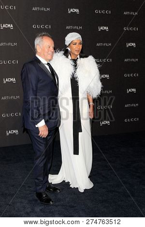 LOS ANGELES - NOV 3:  Wolfgang Puck, Gelila Asefa at the 2018 LACMA: Art and Film Gala at the Los Angeles County Musem of Art on November 3, 2018 in Los Angeles, CA