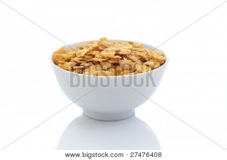 cornflakes on white
