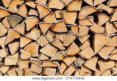 Firewood Put. Chipped Firewood. Stacks Of Firewood. Pile Of Firewood.firewood Background