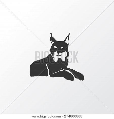 Lynx Icon Symbol. Premium Quality Isolated Wildcat Element In Trendy Style.