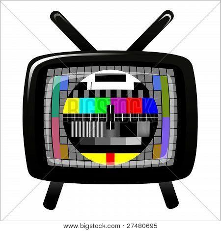 Tv - Color Test Pattern - Test Card, Vector