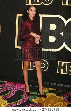 LOS ANGELES - SEP 17:  Jasmin Savory Brown at the HBO Emmy After Party - 2018 at the Pacific Design Center on September 17, 2018 in West Hollywood, CA