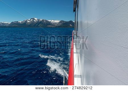 Lake Tahoe Is A Large Freshwater Lake In The Sierra Nevada Of The United States. It Straddles The St