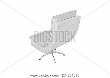 Color Sofa Armchair Isolated On White Background