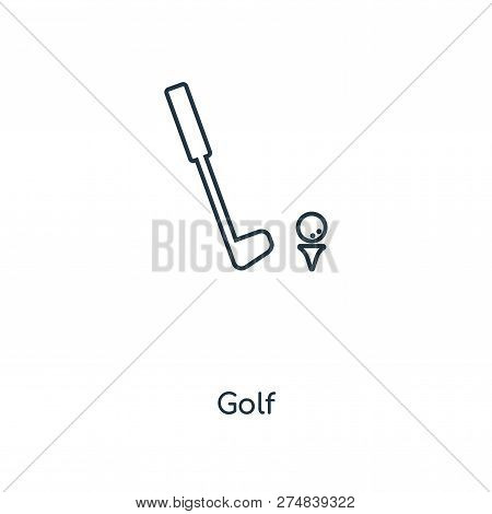 Golf Icon In Trendy Design Style. Golf Icon Isolated On White Background. Golf Vector Icon Simple An