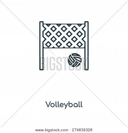Volleyball Icon In Trendy Design Style. Volleyball Icon Isolated On White Background. Volleyball Vec