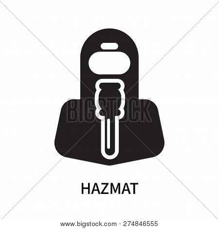 Hazmat Icon Isolated On White Background. Hazmat Icon Simple Sign. Hazmat Icon Trendy And Modern Sym