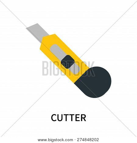 Cutter Icon Isolated On White Background. Cutter Icon Simple Sign. Cutter Icon Trendy And Modern Sym