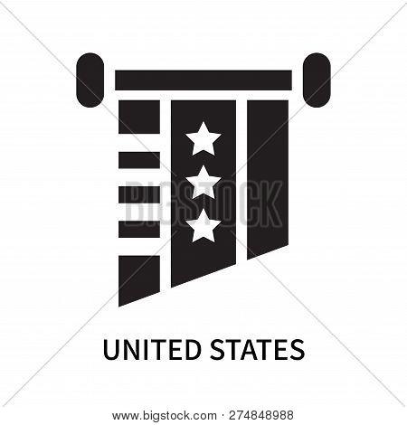 United States Icon Isolated On White Background. United States Icon Simple Sign. United States Icon