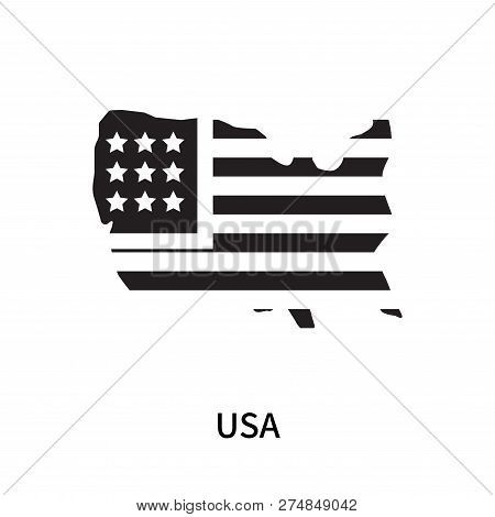 Usa Icon Isolated On White Background. Usa Icon Simple Sign. Usa Icon Trendy And Modern Symbol For G