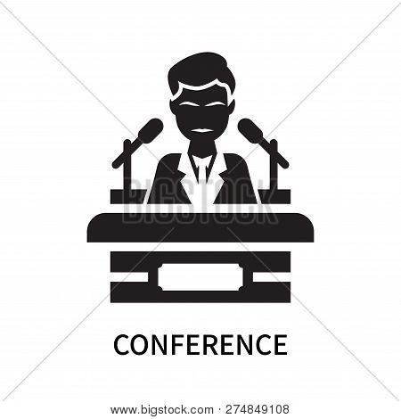Conference Icon Isolated On White Background. Conference Icon Simple Sign. Conference Icon Trendy An