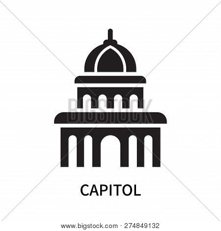 Capitol Icon Isolated On White Background. Capitol Icon Simple Sign. Capitol Icon Trendy And Modern