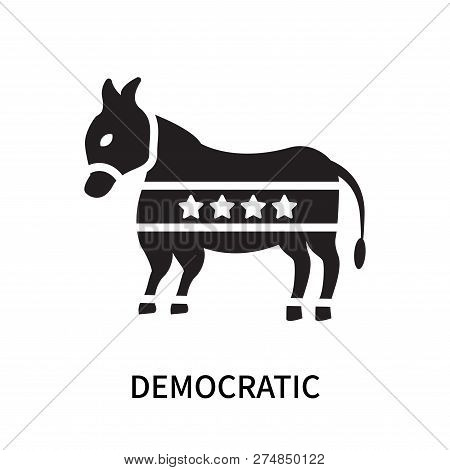 Democratic Icon Isolated On White Background. Democratic Icon Simple Sign. Democratic Icon Trendy An