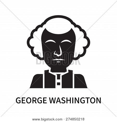 George Washington Icon Isolated On White Background. George Washington Icon Simple Sign. George Wash