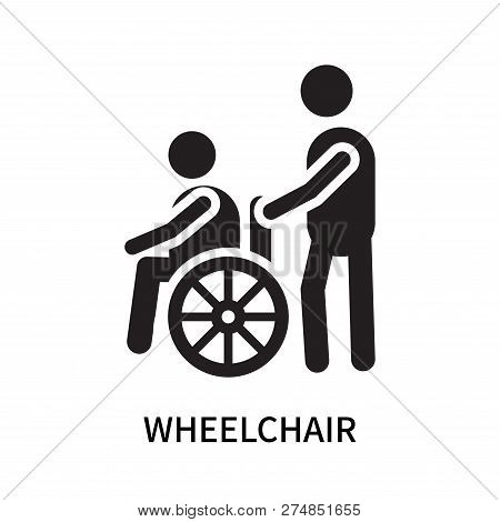 Wheelchair Icon Isolated On White Background. Wheelchair Icon Simple Sign. Wheelchair Icon Trendy An