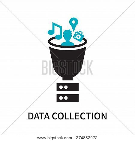 Data Collection Icon Isolated On White Background. Data Collection Icon Simple Sign. Data Collection