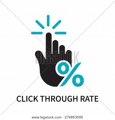 Click Through Rate Icon Isolated On White Background. Click Through Rate Icon Simple Sign. Click Thr