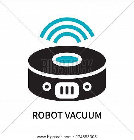 Robot Vacuum Icon Isolated On White Background. Robot Vacuum Icon Simple Sign. Robot Vacuum Icon Tre