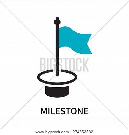 Milestone Icon Isolated On White Background. Milestone Icon Simple Sign. Milestone Icon Trendy And M