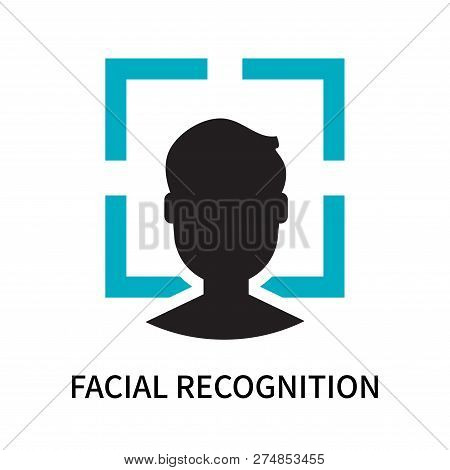 Facial Recognition Icon Isolated On White Background. Facial Recognition Icon Simple Sign. Facial Re