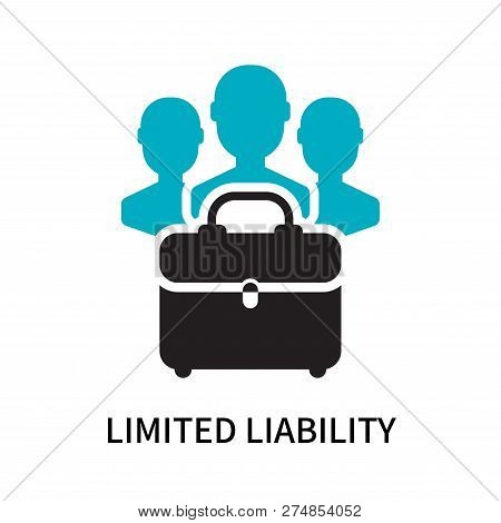 Limited liability icon isolated on white background. Limited liability icon simple sign. Limited liability icon trendy and modern symbol for graphic and web design. Limited liability icon flat vector illustration for logo, web, app, UI. poster