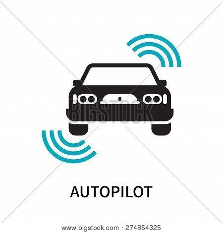 Autopilot Icon Isolated On White Background. Autopilot Icon Simple Sign. Autopilot Icon Trendy And M